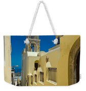 Catholic Cathedral Santorini Weekender Tote Bag