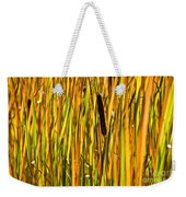 Cattails Aflame Weekender Tote Bag
