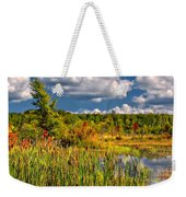 Cattails And Clouds Weekender Tote Bag