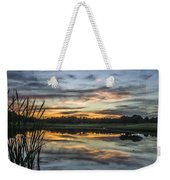 Cattails And Sunset Weekender Tote Bag