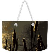 Cattails At Sunset Weekender Tote Bag