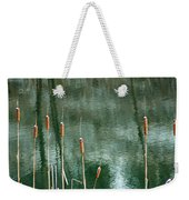 Cattails On Green Weekender Tote Bag
