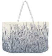 Cattails Typha Latifolia Covered In Snow Weekender Tote Bag