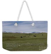 Cattle And Bible Verse Weekender Tote Bag