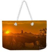 Cattle Drive 21 Weekender Tote Bag