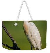 Cattle Egret On Stick Weekender Tote Bag