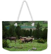 Cattle Grazing In The Pyrenees Weekender Tote Bag