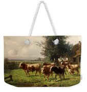 Cattle Heading To Pasture Weekender Tote Bag