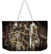 Cattle Skulls On Display In Santa Fe Weekender Tote Bag