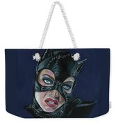 Catwoman Weekender Tote Bag by Leida Nogueira
