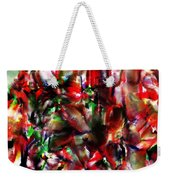 Caught In The Crowd Two Water Color And Pastels Wash Weekender Tote Bag