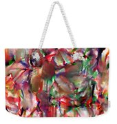 Caught In The Crowd Water Color And Pastel Weekender Tote Bag by Sir Josef - Social Critic -  Maha Art