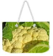 Cauliflower With A Visitor. Square Format Weekender Tote Bag