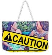 Caution Weekender Tote Bag