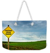 Caution Open Range Weekender Tote Bag