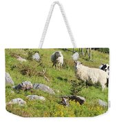 Cautious Sheep In The Pasture Weekender Tote Bag