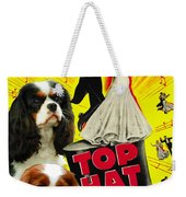 Cavalier King Charles Spaniel Art - Top Hat Movie Poster Weekender Tote Bag
