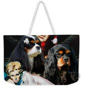 Cavalier King Charles Spaniel Art - Vertigo Movie Poster Weekender Tote Bag