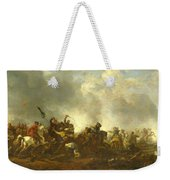 Cavalry Attacking Infantry Weekender Tote Bag