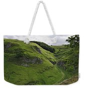 Cave Dale From Peveril Castle Weekender Tote Bag