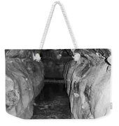 Cave Entrance Black And White Weekender Tote Bag