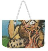 Caveman And Fire Weekender Tote Bag