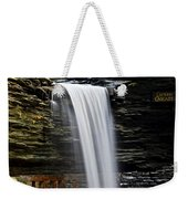 Cavern Cascade Weekender Tote Bag by Frozen in Time Fine Art Photography