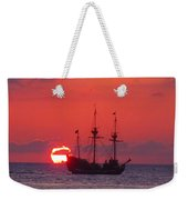Cayman Sunset Weekender Tote Bag by Carey Chen