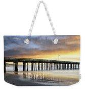 Cayucos Pier Reflected Impasto Weekender Tote Bag