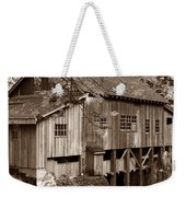 Cedar Creek Grist Mill Sepia Weekender Tote Bag