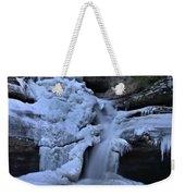 Cedar Falls In Winter At Hocking Hills Weekender Tote Bag