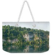 Cedar Hollow Quarry Panorama Weekender Tote Bag