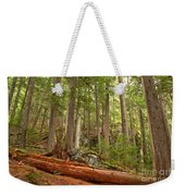 Cedar Logs At Garibaldi Weekender Tote Bag