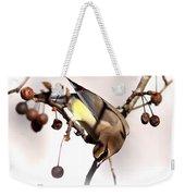 Cedar Waxwing - Img_9835-7x5 Weekender Tote Bag