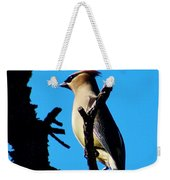 Cedar Waxwing In Tree 030515aaa Weekender Tote Bag