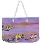 Bohemian Waxwings Birds Weekender Tote Bag