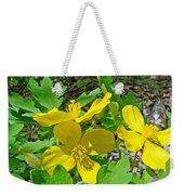 Celandine Poppy Or Wood Poppy - Stylophorum Diphyllum Weekender Tote Bag