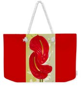 Celebration - Red Anthurium And White Orchids  Weekender Tote Bag