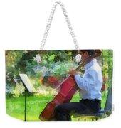 Cellist In The Garden Weekender Tote Bag