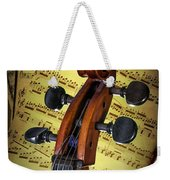 Cello Scroll With Sheet Music Weekender Tote Bag