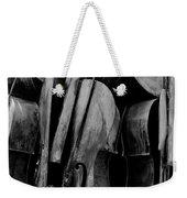 Cellos 6 Black And White Weekender Tote Bag