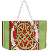 Celtic Christimas O Initial Weekender Tote Bag