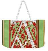 Celtic Christmas A Initial Weekender Tote Bag
