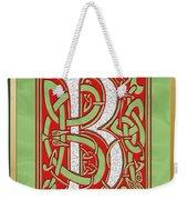 Celtic Christmas B Initial Weekender Tote Bag