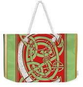 Celtic Christmas C Initial Weekender Tote Bag