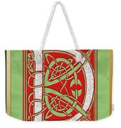 Celtic Christmas D Initial Weekender Tote Bag