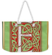 Celtic Christmas E Initial Weekender Tote Bag