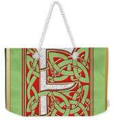Celtic Christmas F Initial Weekender Tote Bag