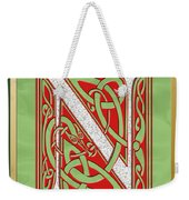 Celtic Christmas N Initial Weekender Tote Bag