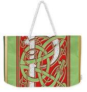 Celtic Christmas P Initial Weekender Tote Bag